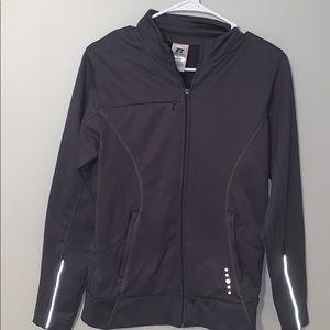 Women's Gray Zip-Up Jacket